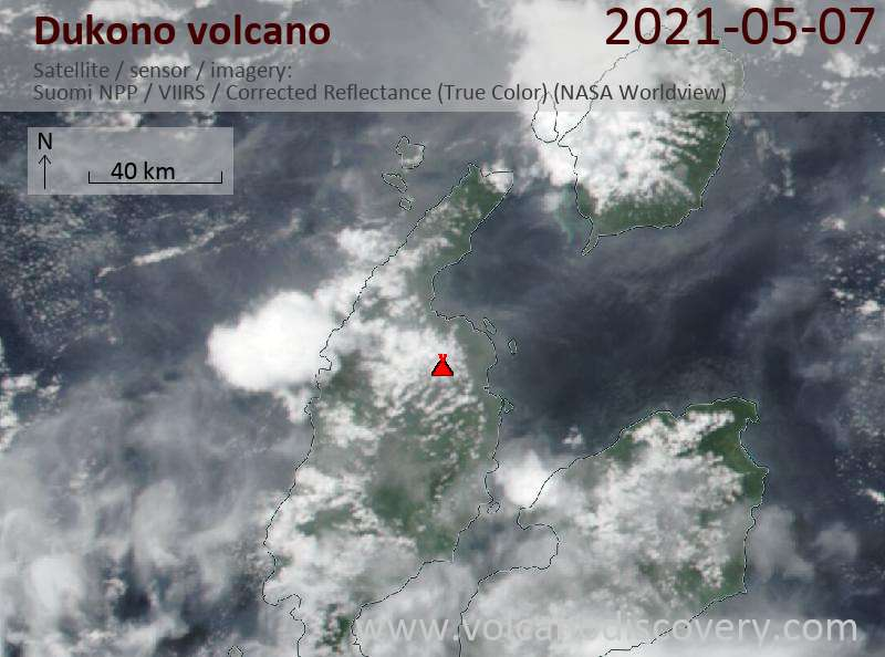 Dukono Volcano Volcanic Ash Advisory: CONTINUOUS VA EMISSION TO FL090 MOV NE OBS VA DTG: 07/2310Z to 9000 ft (2700 m)