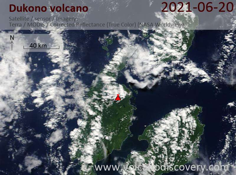 Dukono Volcano Volcanic Ash Advisory: CONTINUOUS VA EMISSION TO FL070 OBS VA DTG: 24/1000Z to 7000 ft (2100 m)