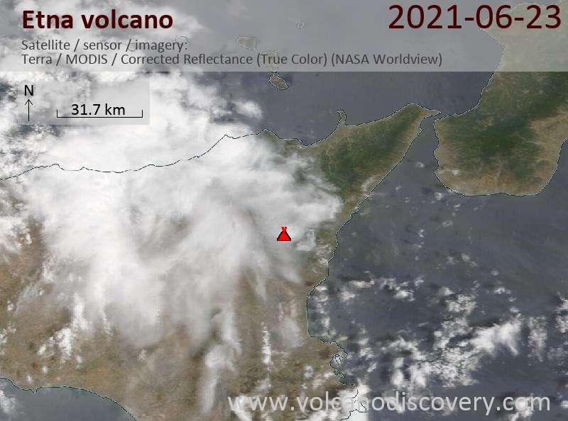 Etna Volcano Volcanic Ash Advisory: ERUPTION AT 20210623/1815Z NO ASH EMISSION OBS VA DTG: 24/0300Z