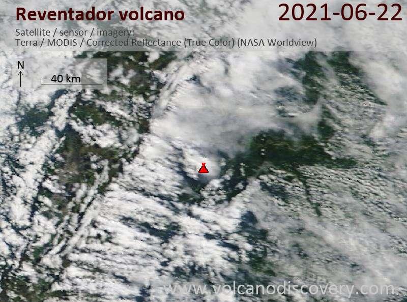 Reventador Volcano Volcanic Ash Advisory: CONTG OCNL VA EMS. to 15000 ft (4600 m)