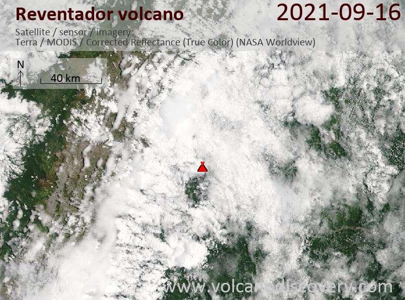 Reventador Volcano Volcanic Ash Advisory: CONTG VA EMS. to 15000 ft (4600 m)