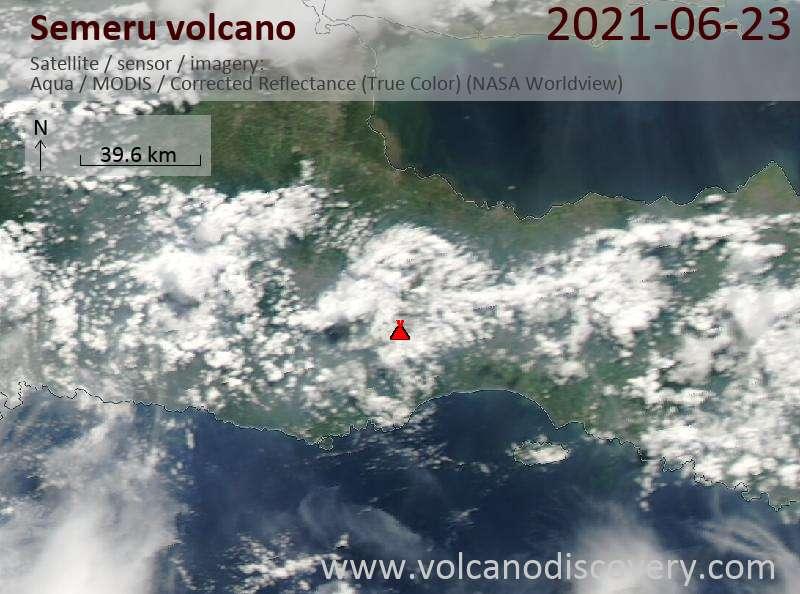 Semeru Volcano Volcanic Ash Advisory: VA REPORTED TO FL140 MOV SW AT 24/0055Z OBS VA DTG: 24/0100Z
