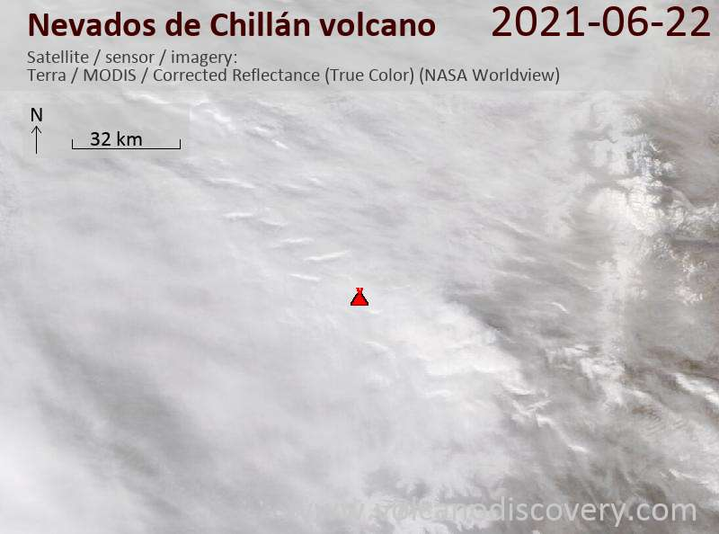 Nevados de Chillán Volcano Volcanic Ash Advisory: SPORADIC INCANDESCENCES